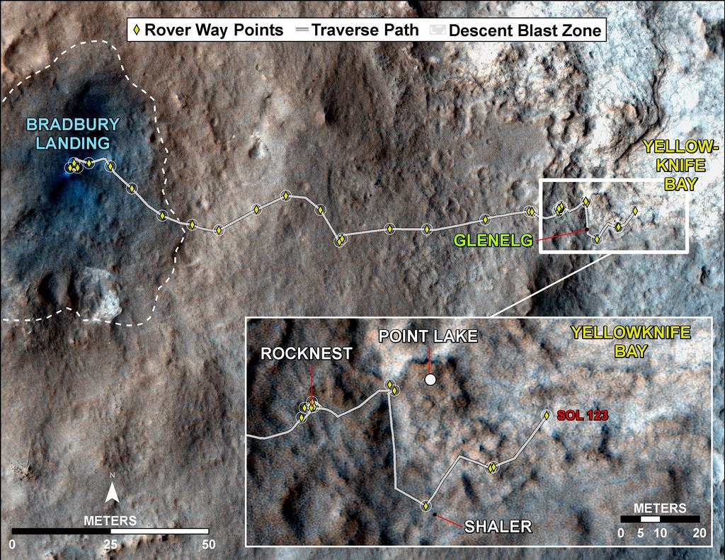 path curiosity rover gale crater - photo #26
