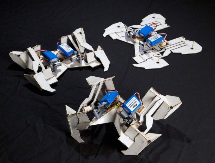 """Origami"" robots fold themselves into 3-D objects that move and walk and that are much cheaper to transport than traditional robots. 